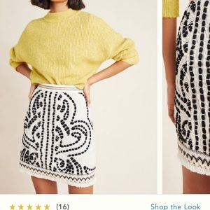 Maeve Carys embroidered mini skirt from anthro